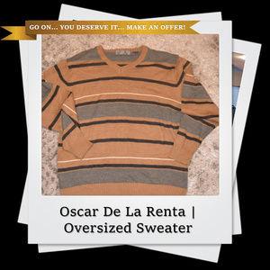 EUC | Oscar De La Renta V-Neck Pullover Sweater